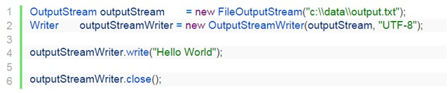 OutputStream example